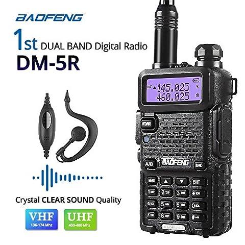 Baofeng DM-5R Dual Band DMR Digital Radio Walkie Talkie, VHF