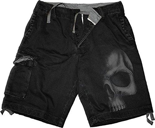 Spiral Shadow Skull Pantalones cortos Vintage Negro L