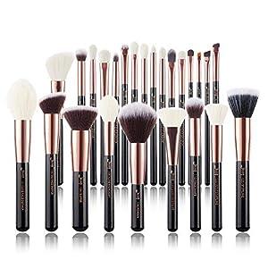 Juego 25 pzas. de brochas de maquillaje profesional de marca Jessup Base de maquillaje Belleza Cosmética Power Blushes…