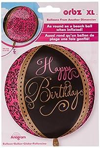 amscan 3253601 - Globos de Papel de Aluminio para celebración de cumpleaños (15 x 16 Pulgadas)