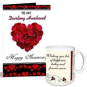 to Darling Husband Mug with Card Hamper