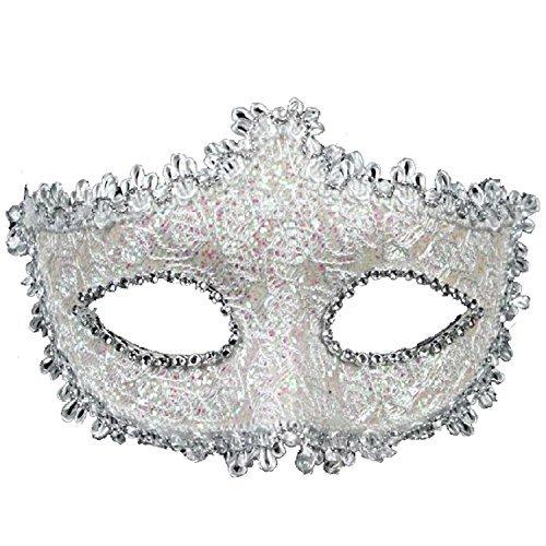 Spitze mit Strass Venezianischen Maske für Frauen Mädchen Kostüm Masquerade Maskenball Masken (Geek Kostüm Für Mädchen)