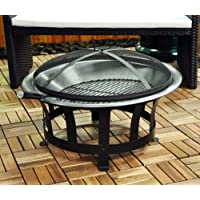 Kingfisher OUTFIRE Barbecue Fire Pit with BBQ Grill (Black)