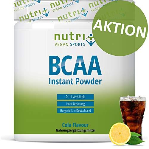 BCAA POWDER COLA | Aminosäuren Mix hochdosiert | Vegan | BCAAs Instant Pulver | Branched-Chain Amino Acids | Aminosäure Nahrungsergänzung 300g | hergestellt in Deutschland - Pulver Frauen