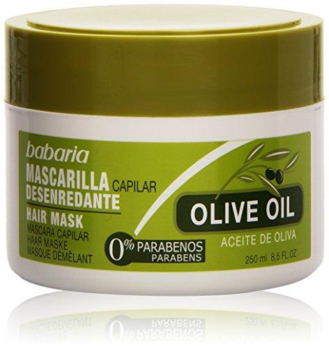 Babaria Cura Capillare, Aceite de Oliva Mascarilla Capilar Desenredante, 250 ml