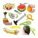 Multifunktionale Fruchtschneide : Edelstahl Ananasschneider, Wassermelonen Schäler Schneider, Avocado Slicer, Banana Slicer, Orangenschäler, Apfel Slicer.
