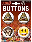 "Ata-Boy Official Emoji Assortment #7 Set of 4 1.25"" Collectible Buttons"