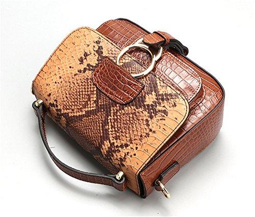 Xinmaoyuan Borse donna borsa a tracolla messenger bag in vera pelle sella retrò Bag,marrone Brown