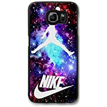 Samsung Galaxy S7 Edge Case (Black) , Jordan Nebula Galaxy Nike Ball phone case for Samsung Galaxy S7 Edge