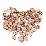 200PCS Rustikale Wooden Love Herz Hochzeit Tisch Scatter Dekoration Basteln Natural Wood Color