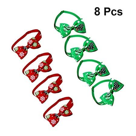 Balacoo Hund Fliege – Weihnachten Hundehalsbänder für kleine Hunde Welpen Katzen – verstellbare Fliegen Krawatten…