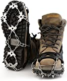 OUTAD Strap Type Crampons Ski Belt High Altitude Hiking Slip-resistant Snow, Ice Spikes, Grips, Crampons, Cleats18 Teeth Stainless Steel Crampons(Pack of 2)
