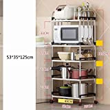 MAIKA HOME Boden Küche liefert Lagerung Regale/Lagerregal / Küchenregal / 201 Edelstahl Mikrowelle (Größe: 53 * 35 * 125cm)