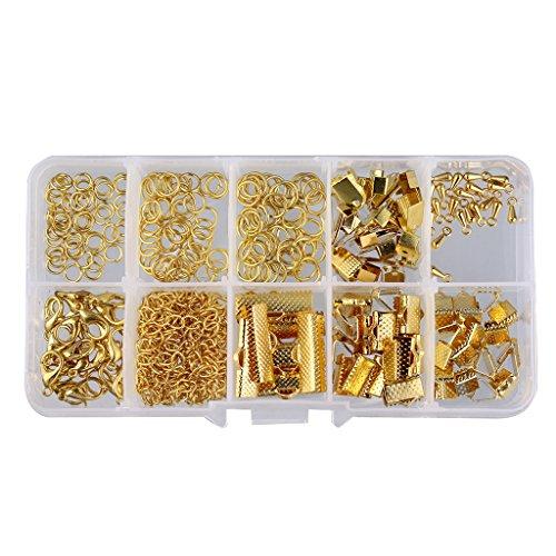 Verbindungsringe Schmuckherstellung Set Starter Kit Ohrring Armband Halsketten Schmucksachen - Gold, 5MM-20MM