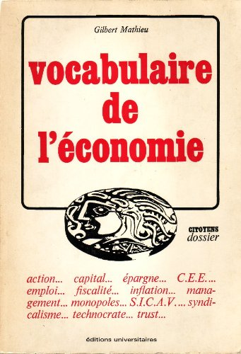 Vocabulaire de l'économie