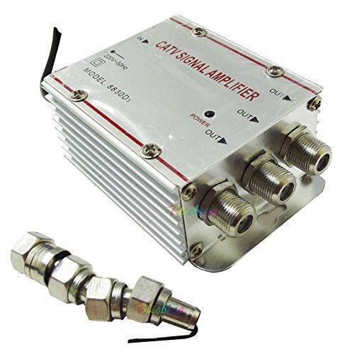 Amplificador para antena de TV, analógica o digital con 3salidas