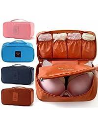 Shree-Hari Travel Women Organizer Bra Underwear Pouch Cosmetic Bag Portable Luggage Storage Cas(, Multi-Color)