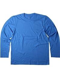 Hanes Tagless Long Sleeve Cotton Tee T-Shirt No Logo S-3XL