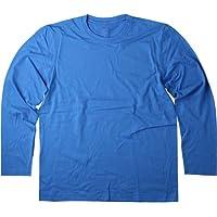 Hanes Mens Long Sleeve T-Shirt Navy-XXL