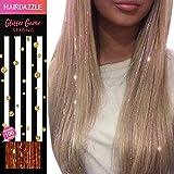 Glitzernde Haarsträhnen, Metallic' - HAIR DAZZLE - Weihnachtsgeschenk, Accessoires für Meerjungfrau/Einhorn-Haar für Mädchen, Farbe und Glanz verleihen, Geschenke für Mädchen