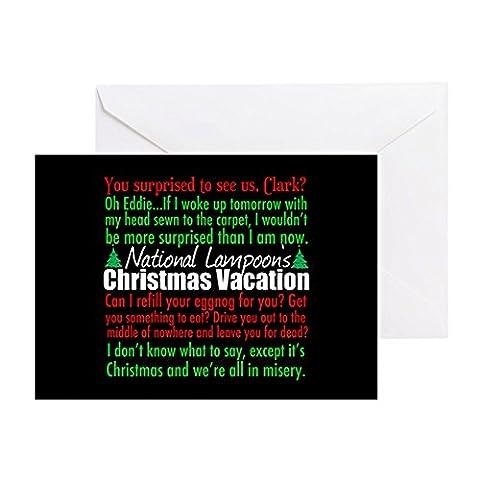 CafePress–National Lampoon Weihnachten–Grußkarte, Note Karte, Geburtstagskarte, innen blanko, (Weihnachts-national Lampoon)