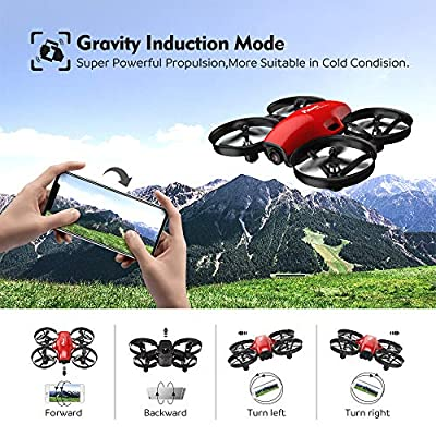Potensic FPV RC Drone with Camera 720P HD, Portable Quadcopter 2.4G 6 Axis-Remote Control, Altitude Hold, Headless, Route Setting, Speed Mode, One-Key Take-Off/Landing, A30W
