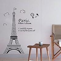 ma-on DIY Torre Eiffel de París adhesivo mural de pared decoración del hogar dormitorio papel pintado