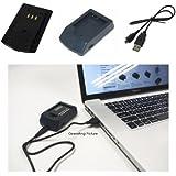 PowerSmart USB Chargeur pour Olympus VR-340, VR-340 Kit, VR-350, VR-360, VR-360 Kit, XZ-1, XZ-10, u 1010, u 1020, u-9000, u-9010, F-2AC, Li-50C