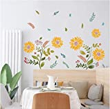 hemeibingqt hemeibingqt Wandaufkleber Sonnenblume Wasserdicht Home Decoration Selbstklebend Vinyl DIY PVC 90 * 30cm