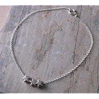 SALe. Sterling Silver Mini Star Anklet