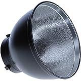 Rollei Profi Studioblitz Reflektor 55 Grad - Aluminium Reflektor (Lichtformer) für Studioblitze mit Bowens-Anschluss und 55° Abstrahlwinkel - Schwarz