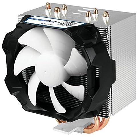 ARCTIC Freezer A11 – Refrigerador silencioso de 150 vatios para zócalos AMD con ventilador PWM mejorado, Negro y