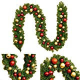 Sunshine Weihnachtsrattan-Verzierungen, Weihnachtsbaum-Hängende Verzierungs-Rattan-Bunte Dekorations-Weihnachtsfest,Redgold