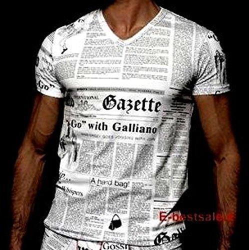 maglia-t-shirt-scollo-a-v-uomo-john-galliano-maniche-corte-v-neck-men-short-sleeves-46-bianco