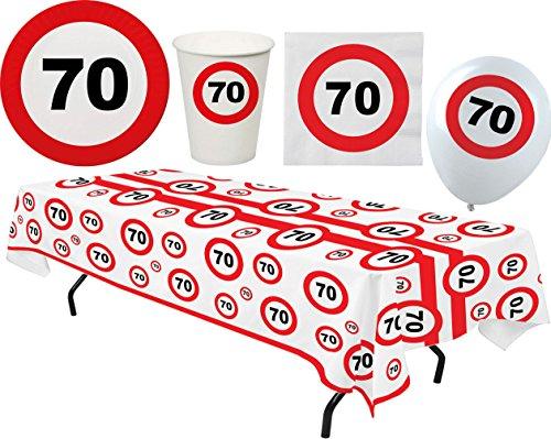 Party Set XL 45 Teile Geburtstag 70 Jahre Verkehrsschild