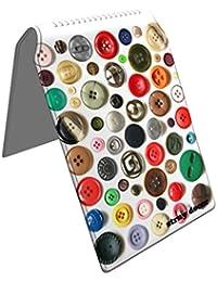 Stray Decor (Buttons) Étui à Cartes / Porte-Cartes pour Titres de Transport, Passe d'autobus, Cartes de Crédit, Navigo Pass, Passe Navigo et Moneo