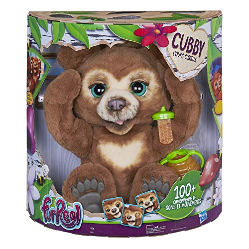 Furreal Friends - Peluche Interactive Cubby, l'Ours Curieux -...