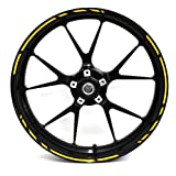 """Adesivi per cerchioni Race Design 12 pezzi, set completo Finest Folia adatto per 17 pollici & 16"""" 18"""" 19"""" cerchioni moto auto bicicletta"""