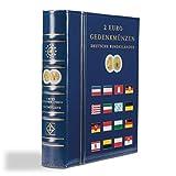 Leuchtturm 341013 Vista Münzalbum für 2 Euro Gedenkmünzen der Deutschen Bundesländer | 8 Vista-Münzblätter für je 2 Sätze und Schutzkassette | blau