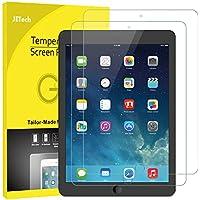 JETech 2 Stücke Panzerglas für iPad (9,7-Zoll, 2018/2017 Modell), iPad Air 1, iPad Air 2, iPad Pro 9,7-Zoll, Schutzfolie Gehärtetem Glas Displayschutzfolie