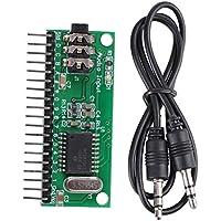 Decodificador de audio DTMF, DC 4.5V-5.5V16 Canales MT8870 Decodificador de audio DTMF Decodificador de voz del teléfono para Smart Home