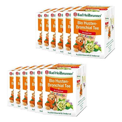 Bad Heilbrunner® BIO Husten-Bronchial Tee für Kinder - 12er Pack