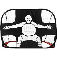 OUTAD Porta di Calcio per la Pratica,Soccer Goal Pop Up-Pallone Multifunzione 2 in 1 obiettivo da calcio porta portatile Goals bambini ( 110 x 80 x 80cm, 210D tela de Oxford), Rosso
