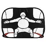 Fußballtor,LESHP Faltbar Tragbar Fußball Training Target Net (110 x 80 x 80 cm), strapazierfähiger Polyester Mesh Rahmen, Einfache Aufbewahrung Perfekt für Indoor & Outdoor Sport Praxis und Spiele