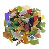 IPOTCH Glitzer Glasmosaiksteine Dekoration Klarglas Mosaik Fliesen Für DIY Handwerk Dreieck/Platz/Rhombus - 200 Stücke, 10-30mm