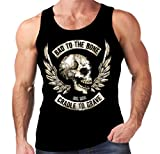 Velocitee Speed Shop Mens Vest Biker Bad To The Bone W15062
