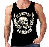 Velocitee Speed Shop Mens Vest Biker Bad To The Bone W15062
