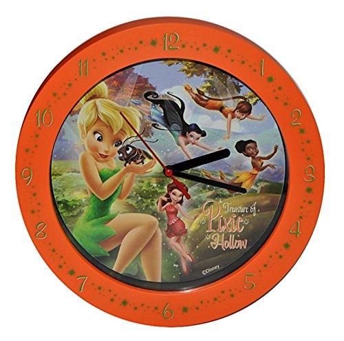 Standuhr - Disney Fairies Tinkerbell 25,5 cm groß Uhr Kinderzimmer Kinderuhr Deko analog Fairy Feen ()