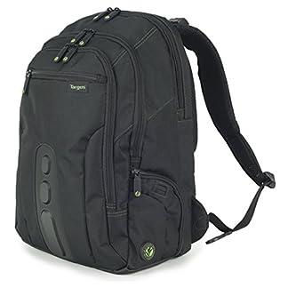 Targus EcoSpruce – Mochila de 27 litros Ideal para viajes de trabajo, estudio, gimnasio y fin de semana, se adapta a la mayoría de las laptops de hasta 15.6 «- Negro