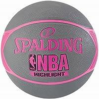 Spalding NBA Highlight 83-475Z Balón de Baloncesto, Mujer, Gris/Fucsia, 6